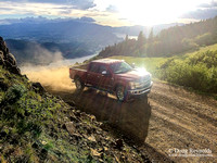 Ford F250 at Sunset in the gorge