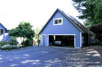Traditional Style Home small farm with large kitchen great room, 2 story, 2 car garage on Acreage with large back yard, large front yard, garden, pond, deck, goats, bees, shop, PDX Zone