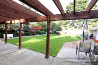 Mid Century Traditional Style Home, With a Basement, 2 car garage average sized Back Yard with Patio and Fire Pit.