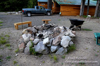 "Wayen's Cabin, Home, Creek, Mountain, MT, Oregon, OR, ""Fire Pit"""
