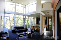 Modern Contemporary Green Home Portland Oregon Dwell Style; family house Northwest Style